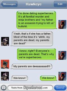 Hawkeye superhero texts