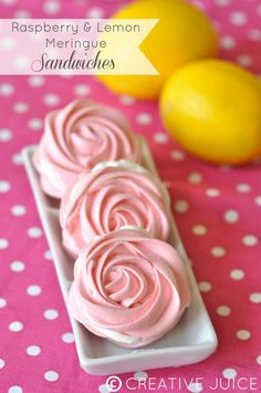 Raspberry Meringues | Craft-O-Maniac: Raspberry & Lemon Meringue Sandwiches