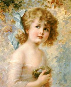 Girl Holding A Nest