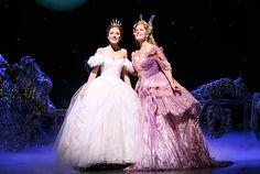 Laura Osnes and Rebecca Luker in Broadway's CINDERELLA. Victoria Clark was amazing, but I wish I could see Rebecca Luker in the role as well. Cinderella Broadway, Rodgers And Hammerstein's Cinderella, Cinderella 2016, Broadway Wedding, Cinderella Costume, Godmother Dress, Fairy Godmother, Victoria Clark, Aladdin Princess