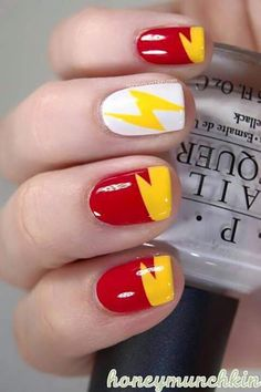 The Flash nails, remind me to do these