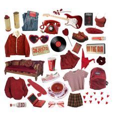 """but mom, red is my aesthetic !!!"" by eileenniclarkyy on Polyvore featuring art"