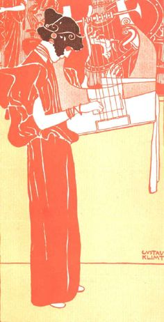 Gustav Klimt >> Music  |  (Oil, artwork, reproduction, copy, painting).