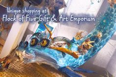 If you looking for unique and local art - Flock of Five has got it! Pottery, carvings, furniture, jewelry and more. Take a trip to Flock of Five Gift and Art Emporium today. Louisiana Art, Flocking, Carving, Pottery, Gifts, Animals, Joinery, Hall Pottery, Presents