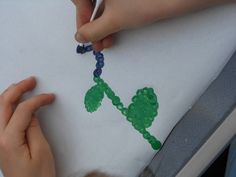 Spring Activities Pointillism with The Artful Parent
