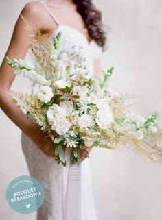 Bouquet Breakdown: Elegant All-White Mexico Wedding Inspiration