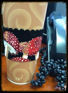 Fly agaric leather coffee cozy  by FloranceandLeah on Etsy, $30.00