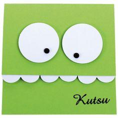 Hauska kutsu-kortti on toteutettu kuvioleikkureiden avulla. Tarvikkeet ja ideat Sinellistä!