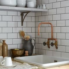 London sink. Copper always makes such a big lovely difference! PopUp Republic