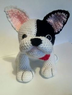 Crochet French Bulldog by CarrotTopsCharacters on Etsy