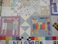 two cats detail on Cat Quilt by Jude Hill aka Spirit Cloth