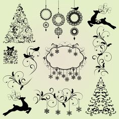 christmas silhouette clip art - Google Search