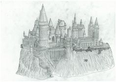 Hogwarts sketch for diploma