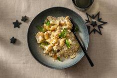 Gnocchi met truffelsaus & bloemkool - Recept - Allerhande - Albert Heijn Vegetarian Recipes, Healthy Recipes, Healthy Meals, Healthy Food, Gnocchi, Pasta Recipes, Food Inspiration, Risotto, Cauliflower