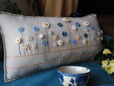 Quiet Country Garden Pillow Cottage Style by PillowCottage on Etsy, $25.00