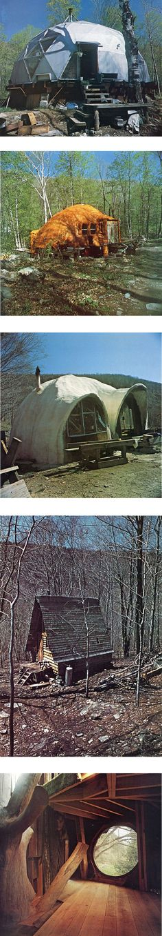 The bottom picture of these Homemade houses of Woodstock (the interior shot) is just amazing. I would love to live in a real live hobbit type house.  I love rustic places so close to nature!