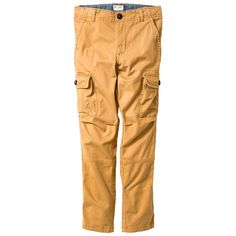 Boys' Slim Fit Stretch Cargo Pant Cat & Jack Brown 12, Boy's