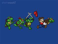 Teenage Mutant Turtles & Mario T-Shirt
