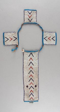 South Africa | Personal ornament; glass beads, fiber, brass buttons | ca. 1933 or earlier | Possibly made by the Xhosa (Tsolo, Eastern Cape) or Zulu (Griqualand East, KwaZulu Natal) people