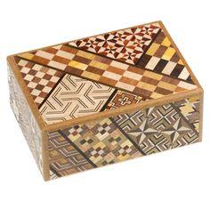 Japanese Yosegi Wood Inlaid Puzzle Box, 10-steps