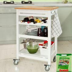 Sobuy Carrito de servir, estantería de cocina, carrito de cocina móvil, FKW16-WN,ES: Amazon.es: Hogar