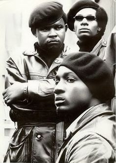 Members of the Black Panther Party for Self-Defense. This image reminds me of the historical data provided in the documentary DuSable to Obama.  Many people don't know the history behind the Black Panther Party.