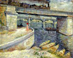 Vincent van Gogh, Ponti sulla  Senna ad Asnières (1887)