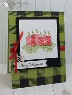 Stampin' Up! Merry Patterns in Red, Green and Black – Stamp With Amy K