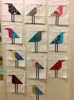 Working on a Lynne's Liberated Birds quilt. Now I have to figure out the rest.