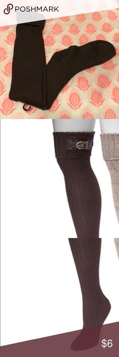 🆕 Muk Luk over the knee buckle socks Step out from the crowd dressed in MUK LUKS Women's Buckle Cuff Over- the -Knees Socks. Fashionable buckle detail & tall, over-the-knee style complements casual & dressy outfits. Accessories Hosiery & Socks