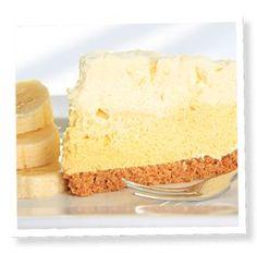 Banana Custard Cream Pie Recipe with Stevia.