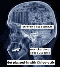 Your brain controls EVERYTHING in your body. It transmits its signal through the spinal cord. Why do you think these are the only two organs completely encased in bone? Chiropractic makes sure the signal does not get interrupted