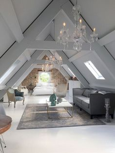 Cool attic bedroom
