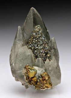 Calcite with Chalcopyrite and Marcasite