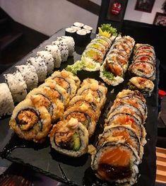 [I Ate] Handmade sushi roll food street videos cooking fa Think Food, I Love Food, Good Food, Yummy Food, Tasty, Food Goals, Aesthetic Food, Cute Food, Food Cravings