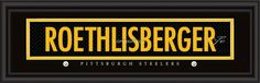 "Pittsburgh Steelers Ben Roethlisberger Print - Signature 8""x24"""