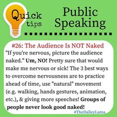 The audience is NOT NAKED ... #publicspeakingtips #speakingtips #speaking #publicspeaking #TheDalleyLama
