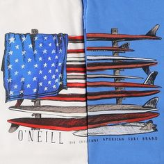 Get some waves on the 4th of July! Have a look at more surf tee designs.