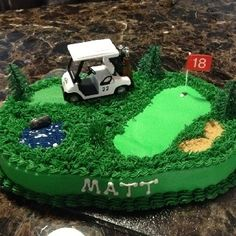 Exciting Great Golf Courses To Play Ideas. Amazing Great Golf Courses To Play Ideas. Golf Themed Cakes, Golf Cakes, Theme Cakes, Cupcakes, Cupcake Cakes, Golf Grooms Cake, Golf Course Cake, Birthday Cake For Husband, Birthday Fun