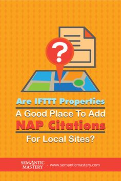 Are IFTTT Properties A Good Place To Add NAP Citations For Local Sites?This Is A Good #SEO But .... via http://semanticmastery.com/are-ifttt-properties-a-good-place-to-add-nap-citations-for-local-sites/ . This is a question from an attendee that asked at one of our Free weekly Hump Day Hangouts here http://semanticmastery.com/humpday.