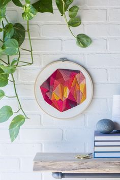 Embroidery goals. Geometric goals. It has it all and looks good just about anywhere.