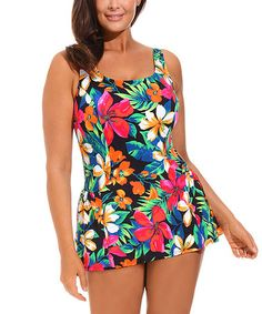 Love this Red Montego Bay Swimdress - Women & Plus by swimsuitsforall on #zulily! #zulilyfinds