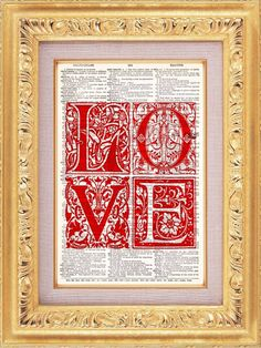 Love Letters In Red  Buy 2 Get 1 FREE  Vintage by TheRekindledPage, $8.98