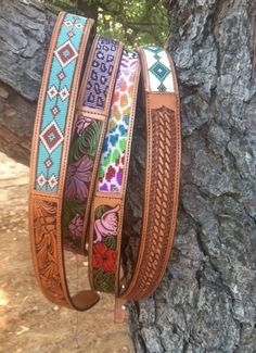 Really awesome beaded belts.