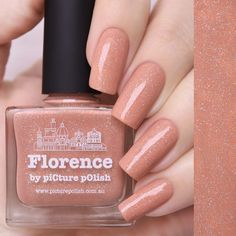Wear orange nails with style. Nail Polish Florence will take your nails on a journey. This stunning tuscan orange holographic nail polish is from Australia. Essie Nail Polish Colors, Orange Nail Polish, Holographic Nail Polish, Orange Nails, Nail Colors, Nail Polish Online, Vegan Nail Polish, Gel Polish, Elf Make Up