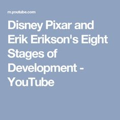 erik erikson stages of development pinned by melissa k  disney pixar and erik erikson s eight stages of development
