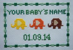 Baby Shower Gift - New Baby Gift - Cross Stitch Baby Gift by Simplistitch on Etsy