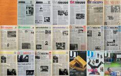 50 jaar UTNieuws, leuk om te zien hoe het van een oranje A4'tje is gegroeid naar het huidige UTNieuws. De foto laat een greep uit de covers van de afgelopen halve eeuw zien.  (29 oktober 2013)