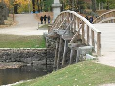 """Old North Bridge at Concord, Massachusetts ( site of """"the shot heard 'round the world"""")"""