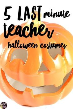 Need easy teacher Halloween costume for yourself or your elementary grade level group? Try one of these 5 quick and easy ideas for teacher Halloween costumes! These super simple DIY costume ideas can be made with items in your closet. Click for ideas and links. #halloween #diyhalloweencostumes #education #diycostume #teacherhalloweencostumes